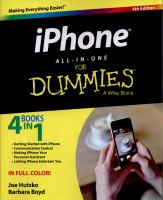 IPhone All-in-One For Dummies 4th edition