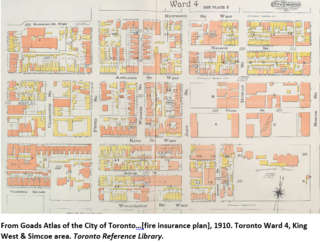 Plate from Goads Atlas of the City of Toronto 1910