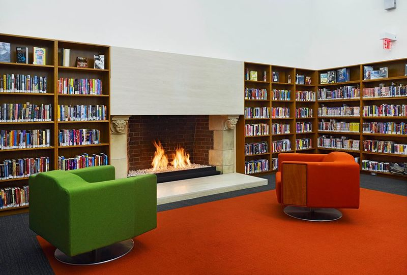 Bloor Gladstone Branch Toronto Public Library fireplace.