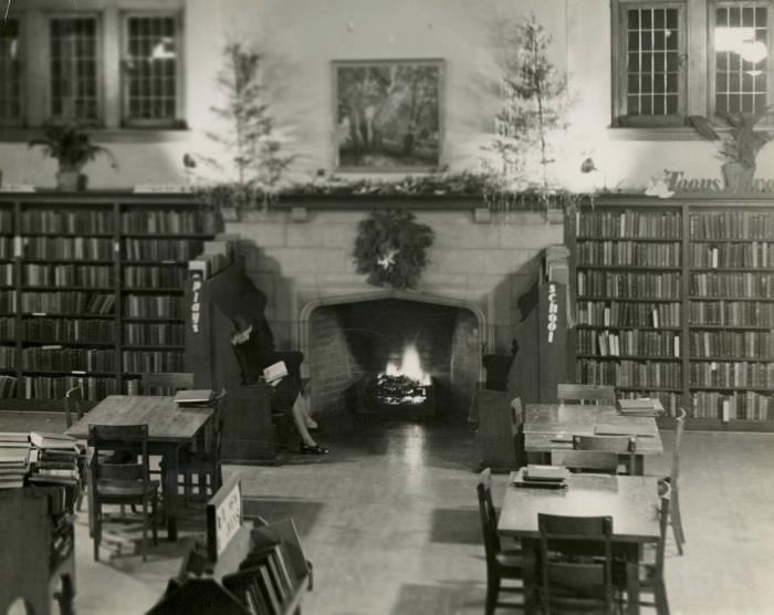 High Park Library Christmas 1940. Marjorie Bullard