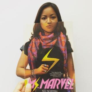 Bookface Miss marvel