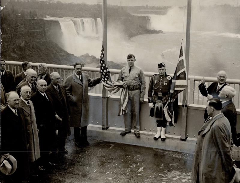 On November 3, 1941 the rainbow bridge at Niagara Falls was formally opened