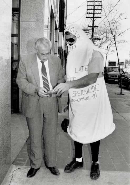 1990 Toronto Star Archives photo of Mr. Condom