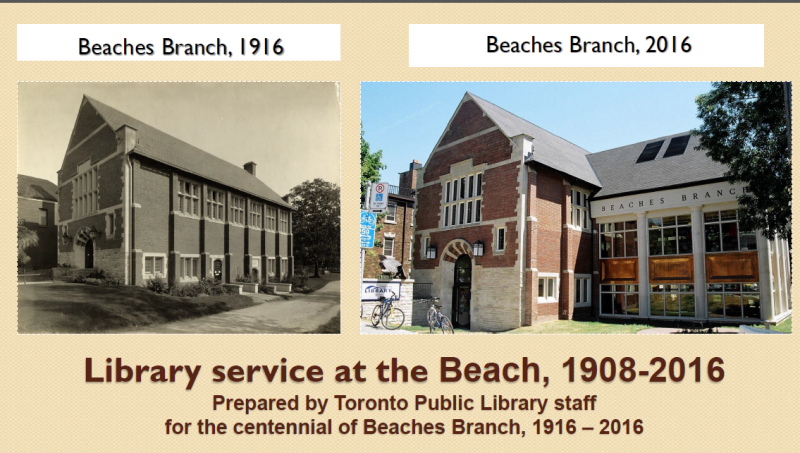 Library service at the Beach 1908-2016