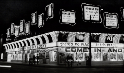 Honest Ed's quirky signs