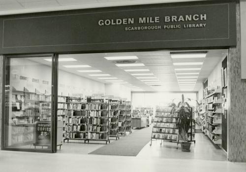 Golden Mile Branch in Eglinton Square Mall around 1965