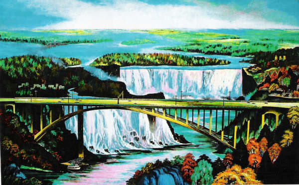 Chinese painting of Niagara Falls