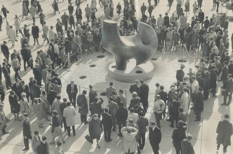 1966 Toronto Star Archives photo of Henry Moore's The Archer