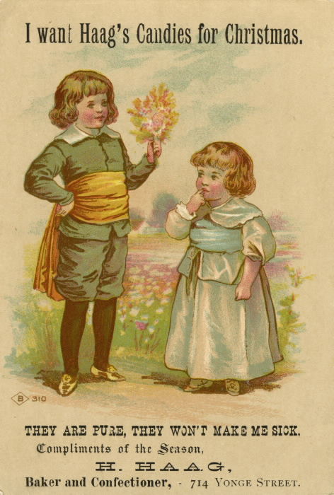 An illustration of a boy and a girl standing by a pond