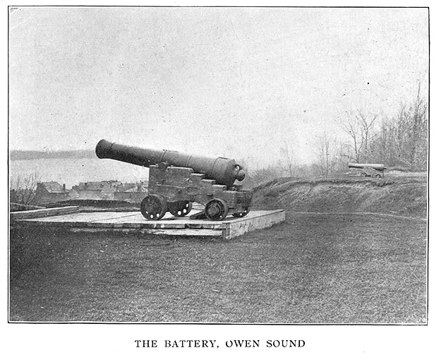 Cannons in The Battery  Owen Sound