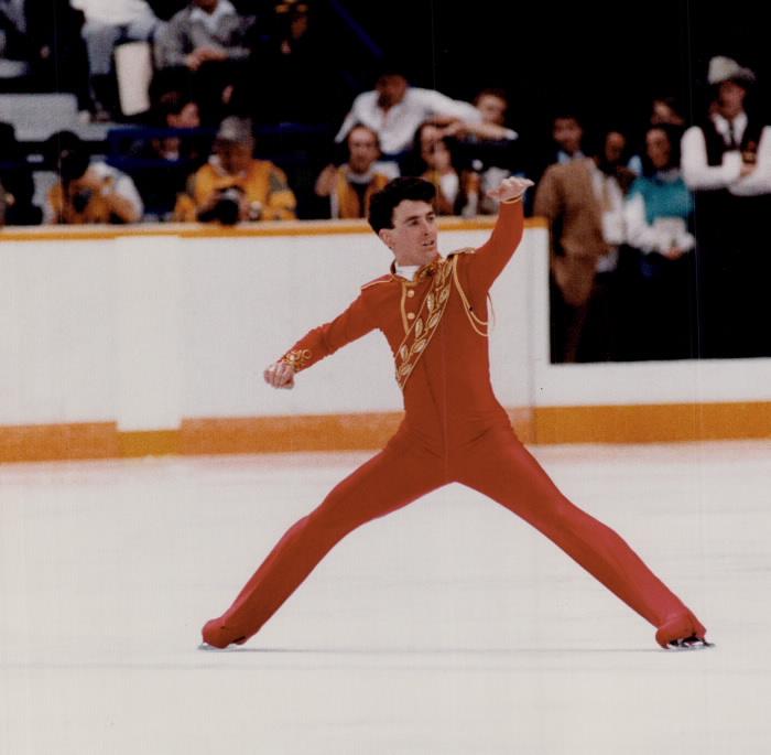 Figure skater Brian Orser mid-performance