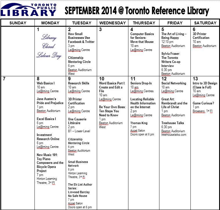 September Programs 1