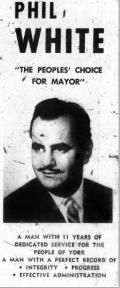 White Mayor York 1969