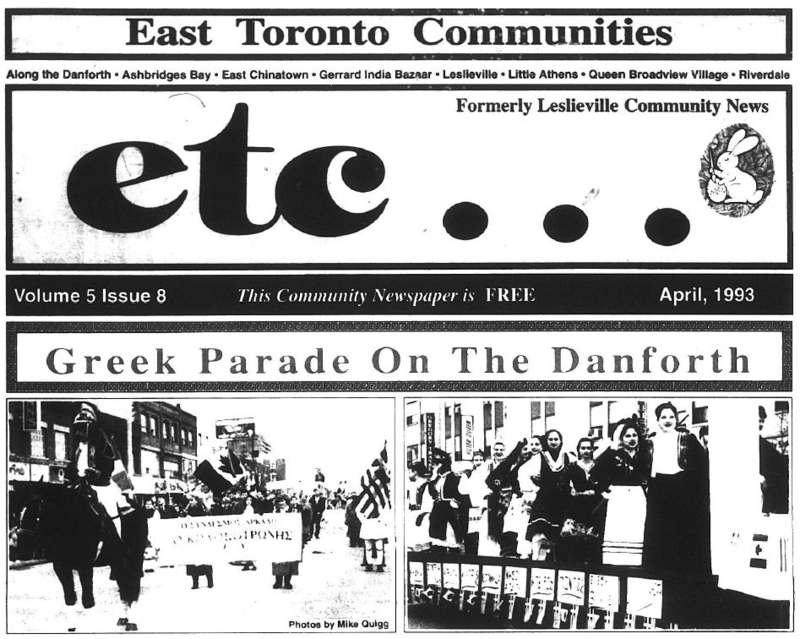 East Toronto Communities, 1993