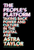 The people's platform taking back power and culture in the digital age