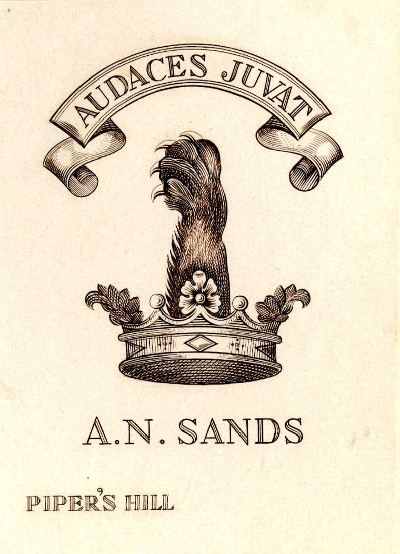 Sands Bookplate