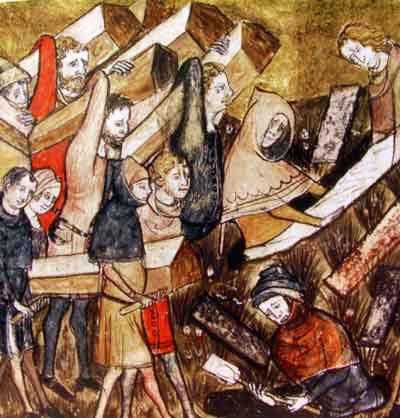 Burying Plague Victims of Tournai