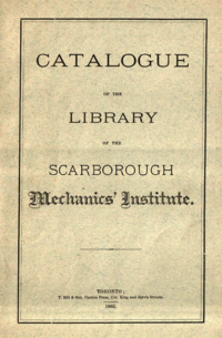 Catalogue of the library - scarborough mechanics institute
