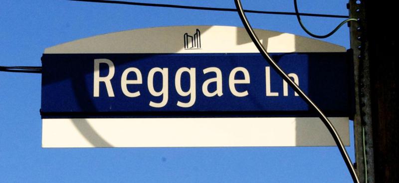 Reggae Lane signage