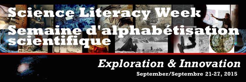 Science Literacy Week Sept 21-27, 2015