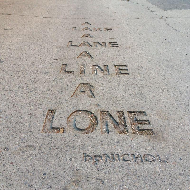 A / LAKE / A / LINE / A / LONE