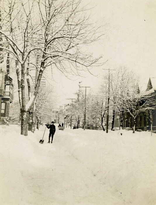 1905 Homewood looking north to Wellesley by Henry James  Carter who lived at 70 Homewood Ave. until 1906.