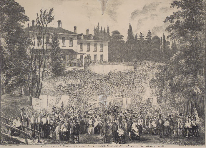 Government House & grounds Toronto CW on the Queen's Birthday 1854