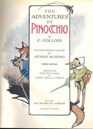 Carlo Collodi's Pinocchio 1883