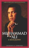 Muhammad Ali A Biography Book Cover