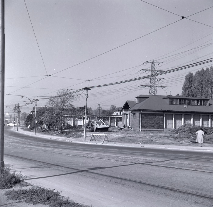 Sunnyside, showing demolition of pavilion October 1956