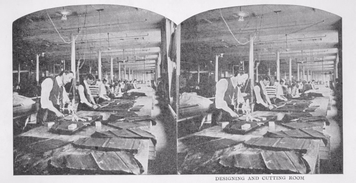 Eaton, T., Company, Louisa St., n.e. cor. Downey's Lane; Interior 1909 Designing and Cutting Room