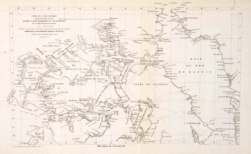 Carte de la mer arctique, page 478 du journal de bord