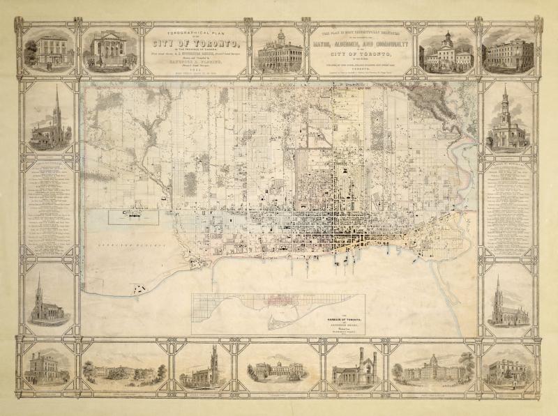 Topographical plan of Toronto Fleming 1851