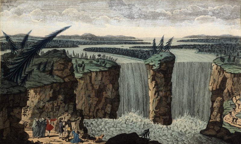 The Water-fall of Niagara (c 1750) by Robert Hancock
