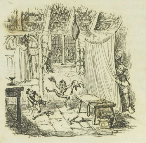 "George Cruikshank for ""The Elves and the Shoemaker,"" German Popular Stories"