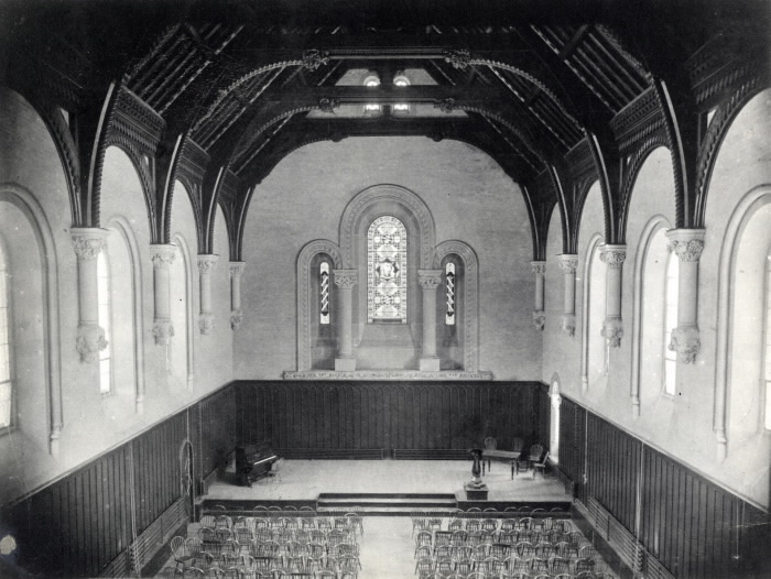 University College; Interior, Convocation Hall pictures-r-2533