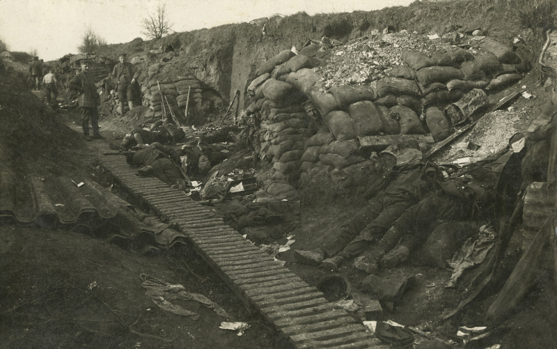 Trench after a battle