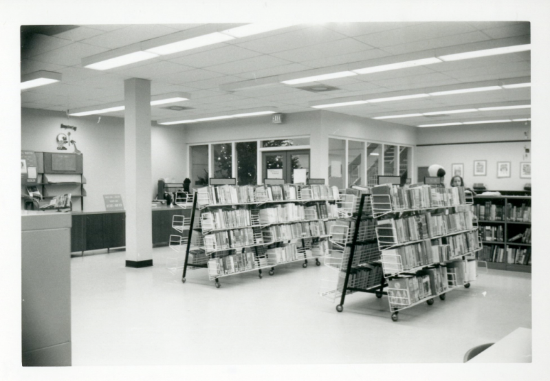 Bathurst Heights Branch downstairs reference area circa 1975