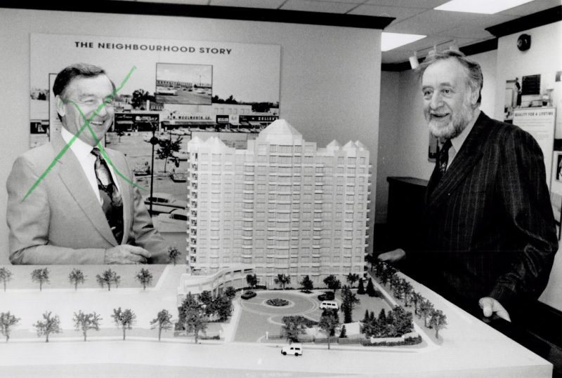 Model of Murray Frum high rise development for Covington road