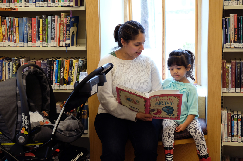 Adult Child Reading