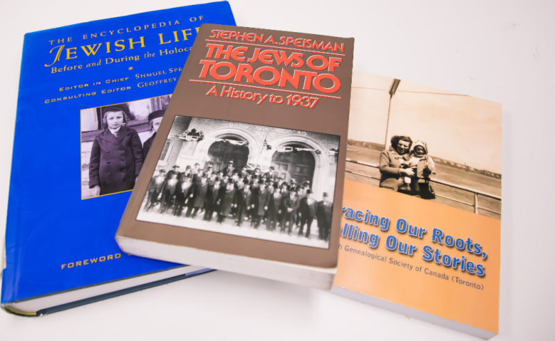 books from the J G S T library collection at Toronto Reference Library