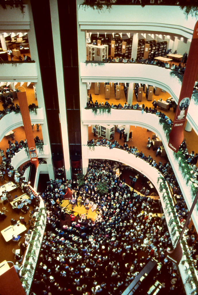 opening ceremonies at Toronto Reference Library