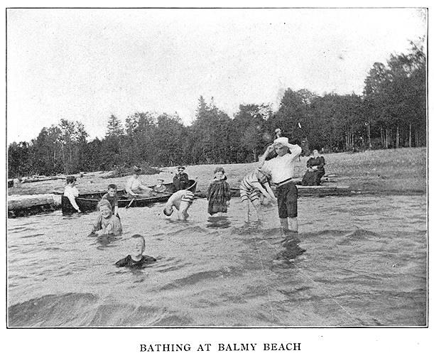 Bathing at Balmy Beach