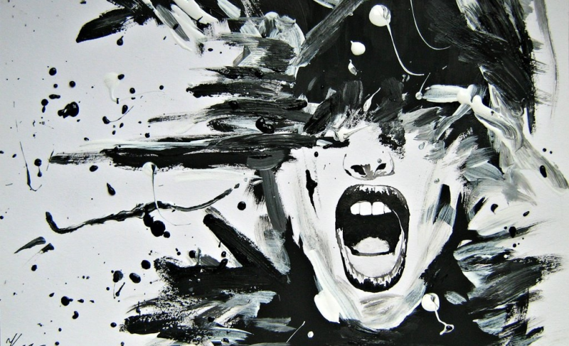 painting representing anger