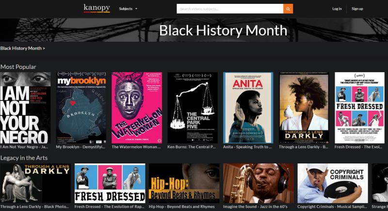 Black History Month Kanopy
