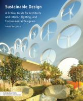 Sustainable design, a critical guide