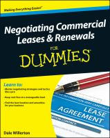 Negotiating Commercial Leases and Renewals