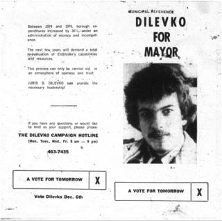 Dilevko Mayor Etobicoke 1976