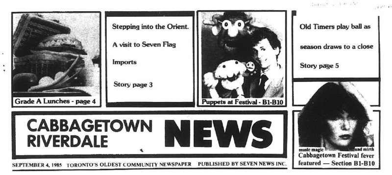 Cabbagetown-Riverdale News, 1985