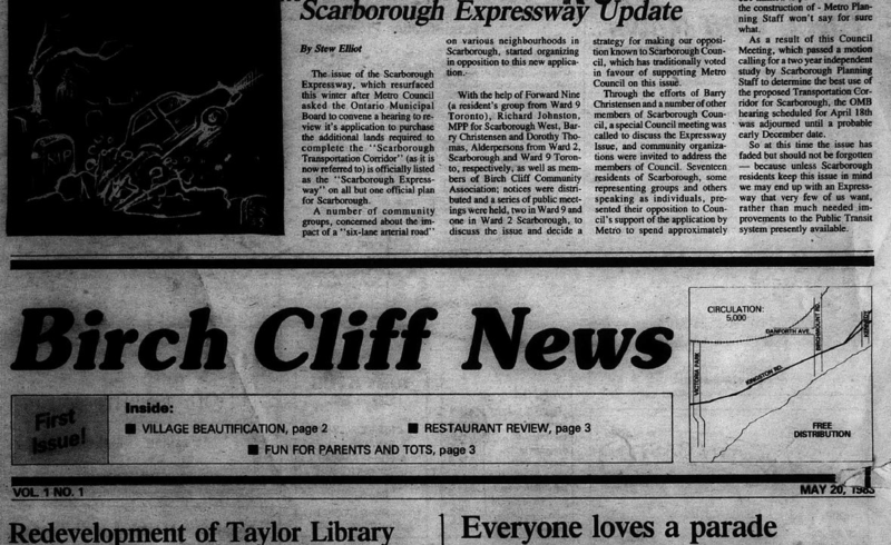 Birch Cliff News, 1983